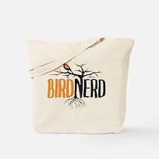 Bird Nerd (Black and Orange) Tote Bag