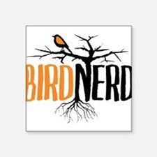 Bird Nerd (Black and Orange) Sticker