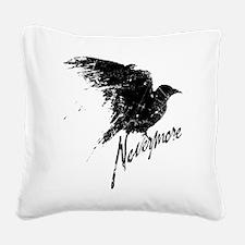 Nevermore Raven Square Canvas Pillow