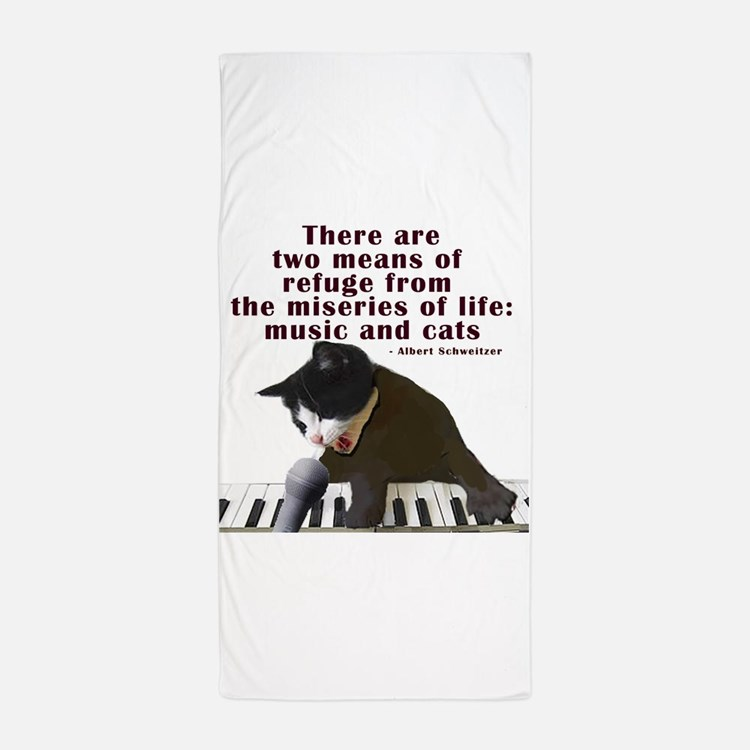 cats-and-music.png Beach Towel