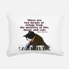 cats-and-music.png Rectangular Canvas Pillow