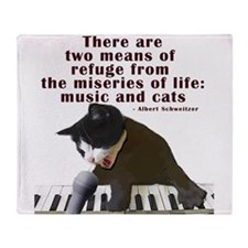 cats-and-music.png Throw Blanket
