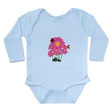 Ladybugs Daisy Garden Long Sleeve Infant Bodysuit