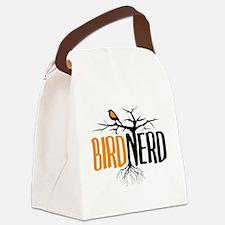 Bird Nerd (Black and Orange) Canvas Lunch Bag