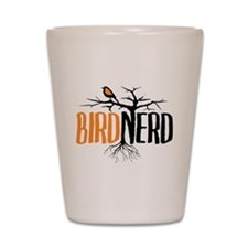 Bird Nerd (Black and Orange) Shot Glass