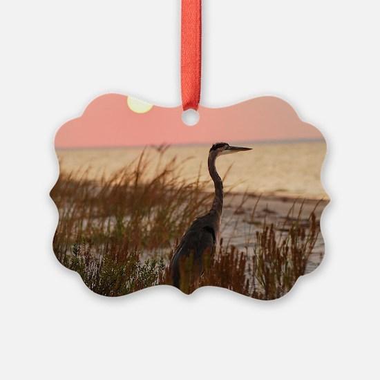 Heron at Sunset Ornament