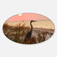 Heron at Sunset Decal