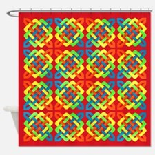 Celtic Knot - Woven Rectangles Shower Curtain