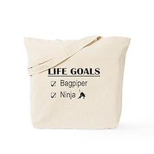 Bagpiper Ninja Life Goals Tote Bag