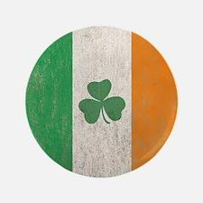 "Vintage Irish Shamrock Flag 3.5"" Button"