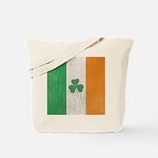Vintage Irish Shamrock Flag Tote Bag