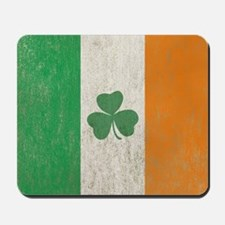 Vintage Irish Shamrock Flag Mousepad