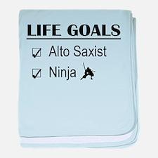 Alto Saxist Ninja Life Goals baby blanket