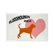 Bloodhounds Rule w/ Heart Rectangle Magnet