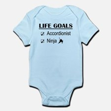 Accordionist Ninja Life Goals Infant Bodysuit