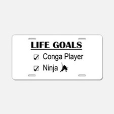 Conga Player Ninja Life Goa Aluminum License Plate