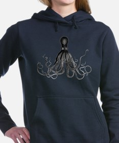Vintage Octopus Hooded Sweatshirt