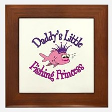 Daddy's Fishing Princess Framed Tile