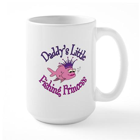 Daddy's Fishing Princess Large Mug