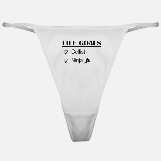 Cellist Ninja Life Goals Classic Thong