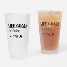 Cellist Ninja Life Goals Drinking Glass