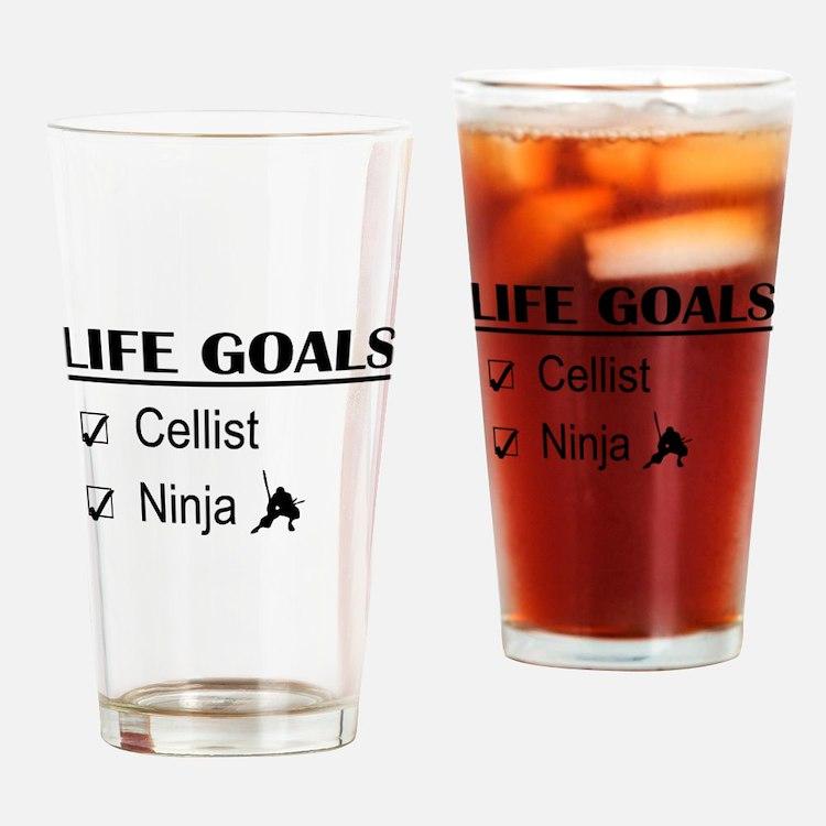 Cellist Ninja Life Goals Drinking Glass