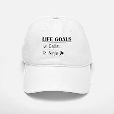 Cellist Ninja Life Goals Baseball Baseball Cap