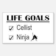 Cellist Ninja Life Goals Decal