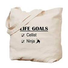 Cellist Ninja Life Goals Tote Bag