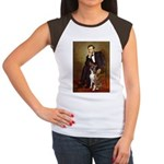 Lincoln & his Boxer Women's Cap Sleeve T-Shirt