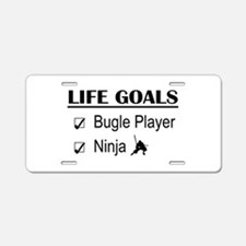 Bugle Player Ninja Life Goa Aluminum License Plate