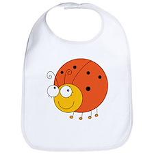 Orange Ladybug Bib