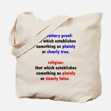 Evidentiary Proof Tote Bag