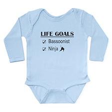 Bassoonist Ninja Life Long Sleeve Infant Bodysuit