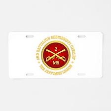 2nd Battalion Mississippi Cavalry Aluminum License
