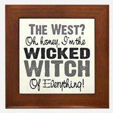 Wicked Witch Of Everything G Framed Tile