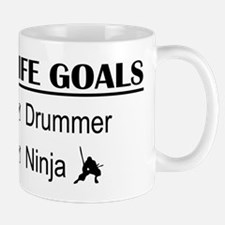 Drummer Ninja Life Goals Mug