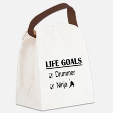 Drummer Ninja Life Goals Canvas Lunch Bag