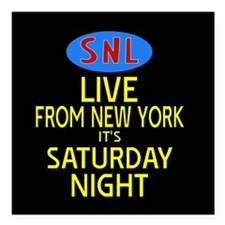 """Live From New York SNL Square Car Magnet 3"""" x 3"""""""