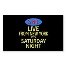 Live From New York SNL Decal