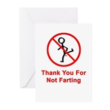 Thank You For Not Farting Greeting Cards (Package