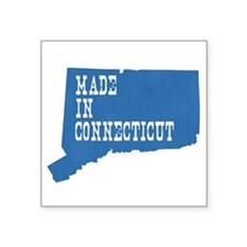 "Made In Connecticut Square Sticker 3"" x 3"""