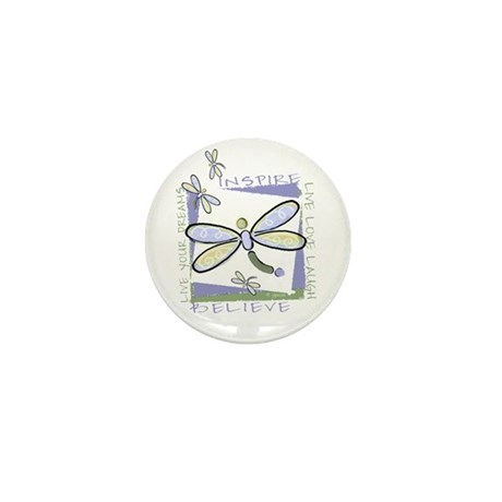 Inspire Dragonflies Mini Button (10 pack)