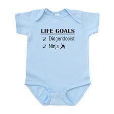 Didgeridooist Ninja Life Goals Infant Bodysuit