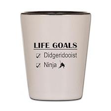 Didgeridooist Ninja Life Goals Shot Glass