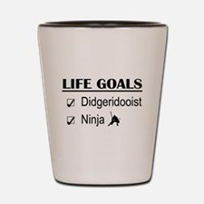 Didgeridooist Ninja Life Goals Shot Glass
