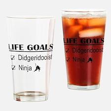Didgeridooist Ninja Life Goals Drinking Glass