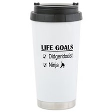Didgeridooist Ninja Lif Travel Coffee Mug