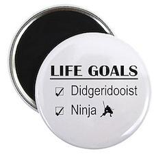 Didgeridooist Ninja Life Goals Magnet