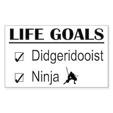 Didgeridooist Ninja Life Goals Decal
